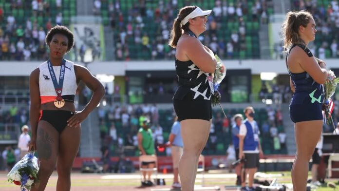 American Olympic Athlete Protests US National Anthem...