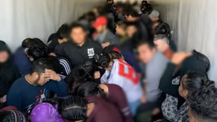 Busted: 105 Immigrants Packed into a Semi Truck...