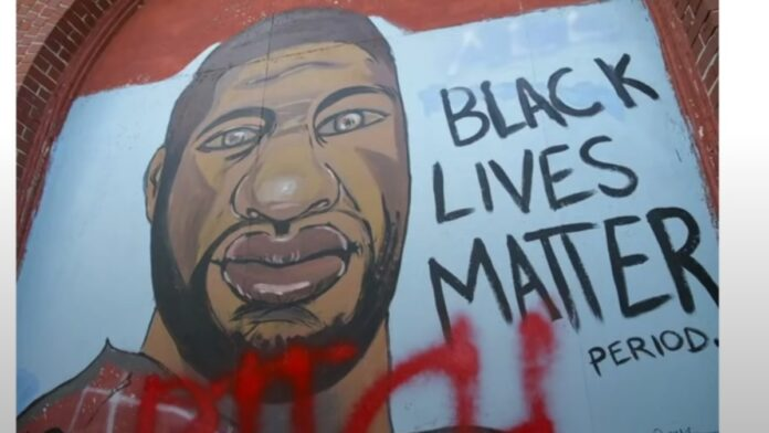 Watch: George Floyd Murals are Defaced Across the Nation...