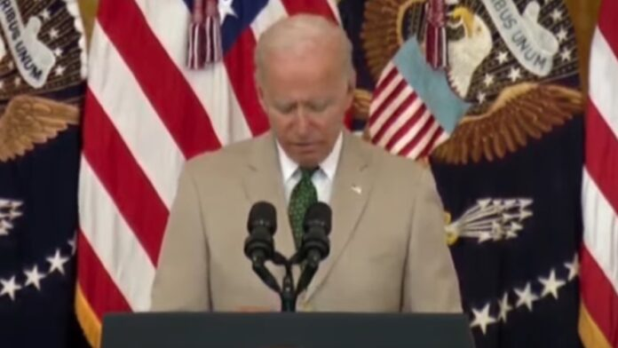 Biden Botches Number of Americans Vaxxed Twice after Looking at Notes...
