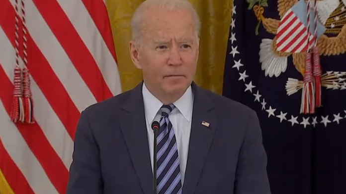 Biden 'Thank the press for being here, we're going to go private now'...