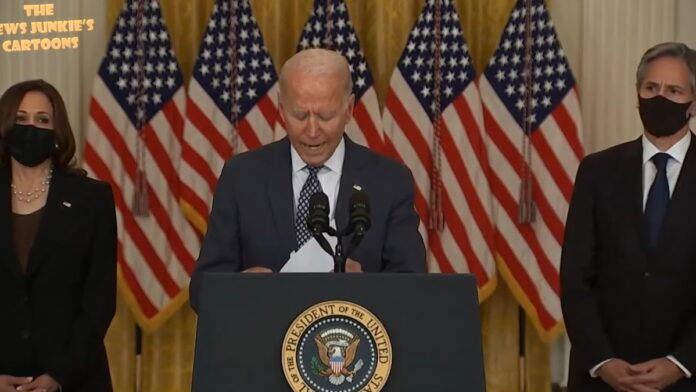 Hilarious: Biden Fiddles with Flashcards to Find the Answer, then Blames Trump...
