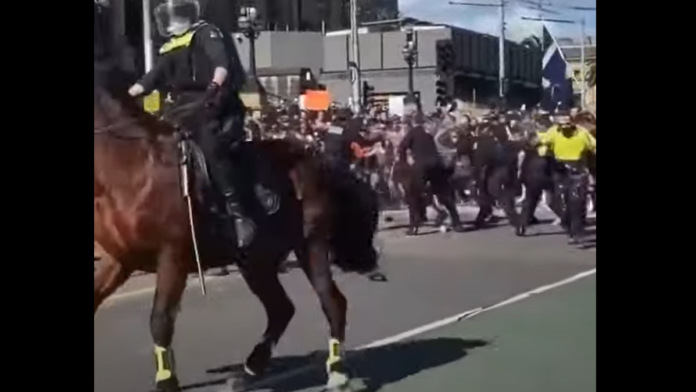 Watch Australians Storm Police as New Lockdowns are Implemented...