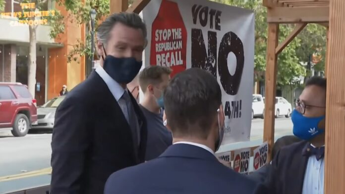 Watch: Newsom and Democrats Trying to Stop the Republican Recall...