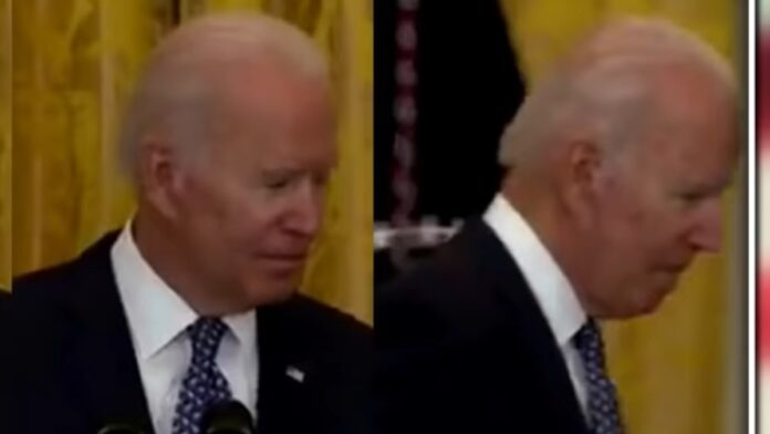 Biden Stuns Reporters with Whispered Remark and Leaves the Room...