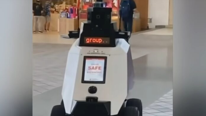 Must See: A COVID Compliance Robot is Deployed...