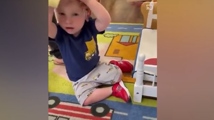 Must See Toddler Fights Back Against NY Child Care Mask Mandate...