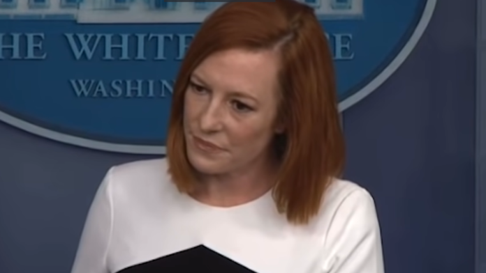 Watch Psaki Get Physically Agitated When Questioned on 'Border Whipping'...