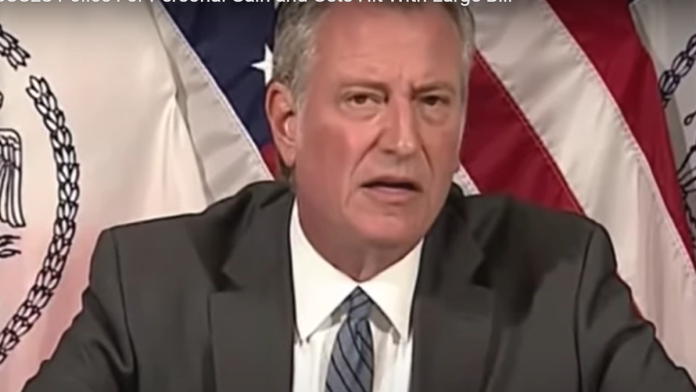 Must Watch: De Blasio MISUSES Police for Personal Gain and Gets Hit with Large Bill...